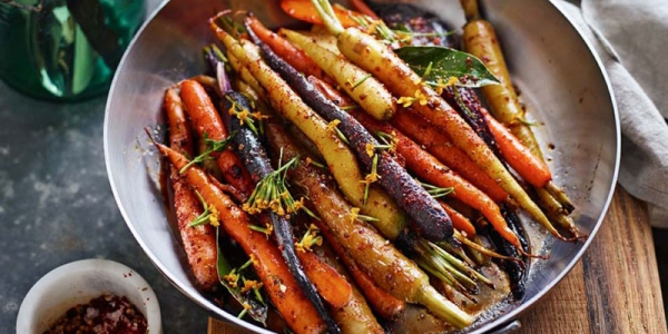 spiced roasted carrots